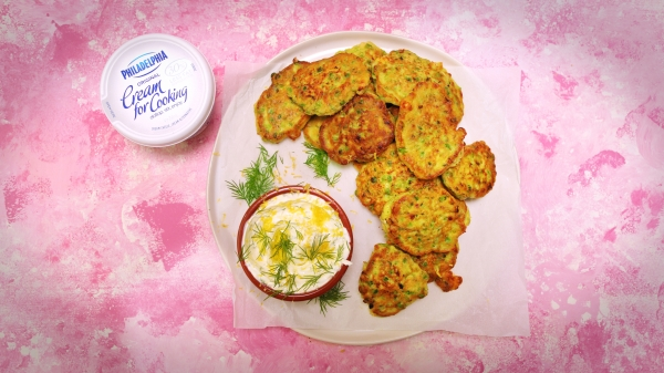 2035 Pea, Feta and Lemon Fritters recipe - The Cooks Pantry