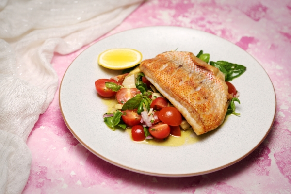 2135 Seared Snapper with Sauce Vierge recipe - The Cooks Pantry