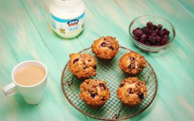 Blackberry Yoghurt Muffins