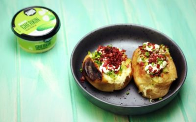 Baked Potatoes with Bacon, Cheese and Pickle Dip