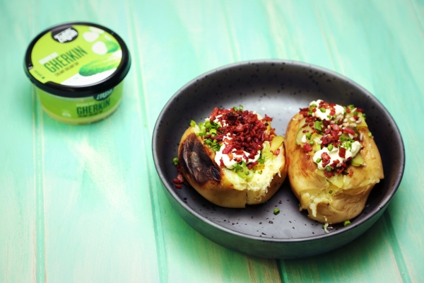 2237 Baked Potatoes with Bacon, Cheese and Pickle Dip recipe - The Cooks Pantry