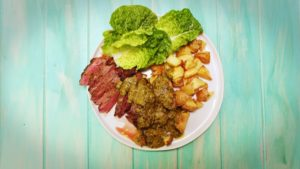 2042 Steak Frittes with mixed Herb Butter Sauce recipe - The Cooks Pantry
