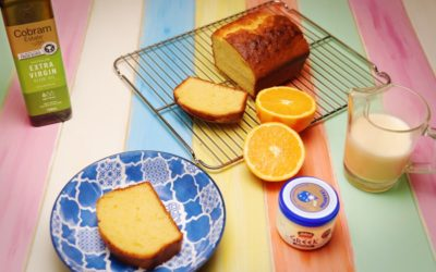 Yoghurt Cake with Orange & Star Anise Anglaise