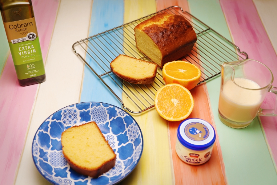 2091 Yoghurt Cake with Orange and Star Anise Anglaise recipe - the cooks pantry