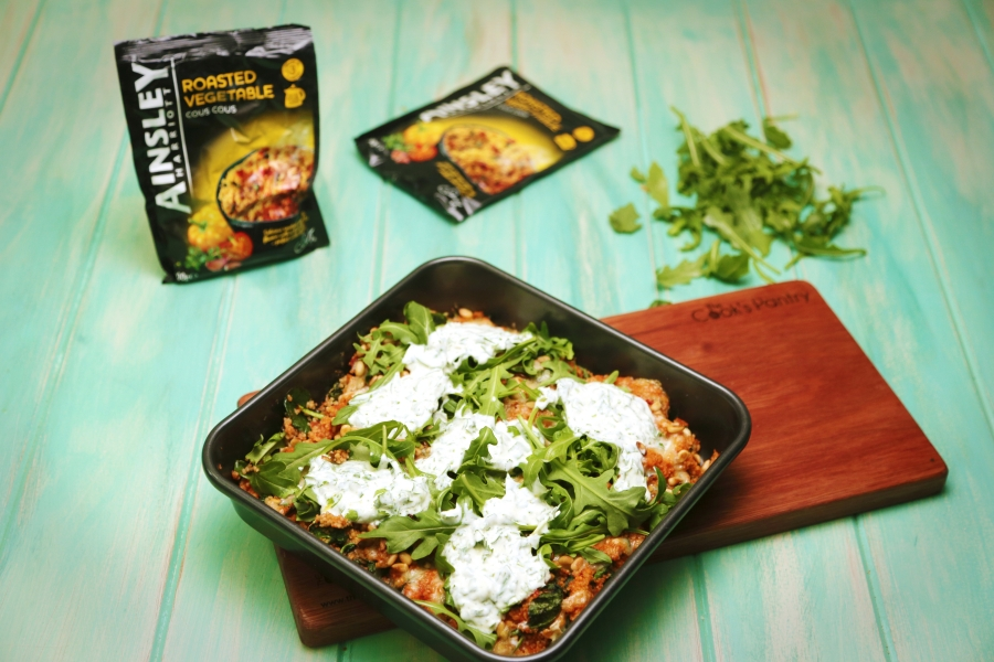 2190 Baked Cous Cous with Herbed Yoghurt recipe - The Cooks Pantry