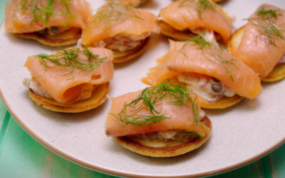 Bilinis with Fennel and Smoked Salmon