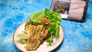2266 BARRAMUNDI WITH GRILLED PEACH SALAD recipe - the cooks pantry