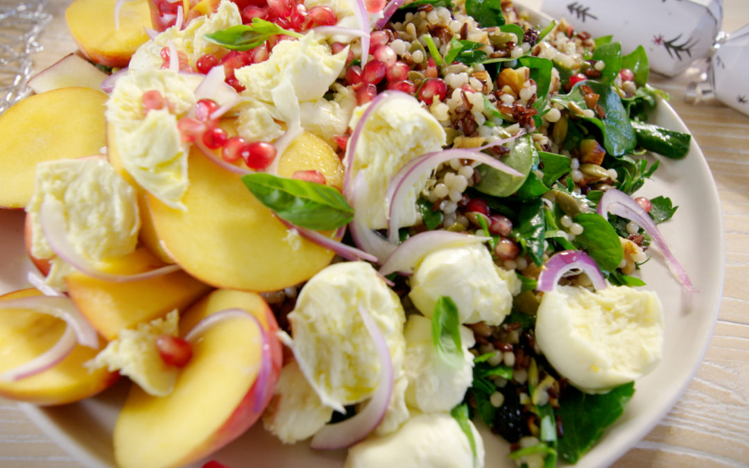 Courtney's Peach, Bocconcini and Nut Salad