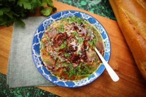 2005 Pancetta and Pear Barely Soup with Parmesan recipe - the cooks pantry