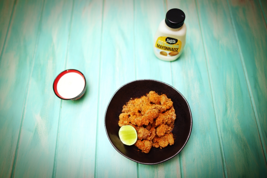2016 Karaage Chicken with Sesame and Lime Mayonnaise recipe - the cooks pantry