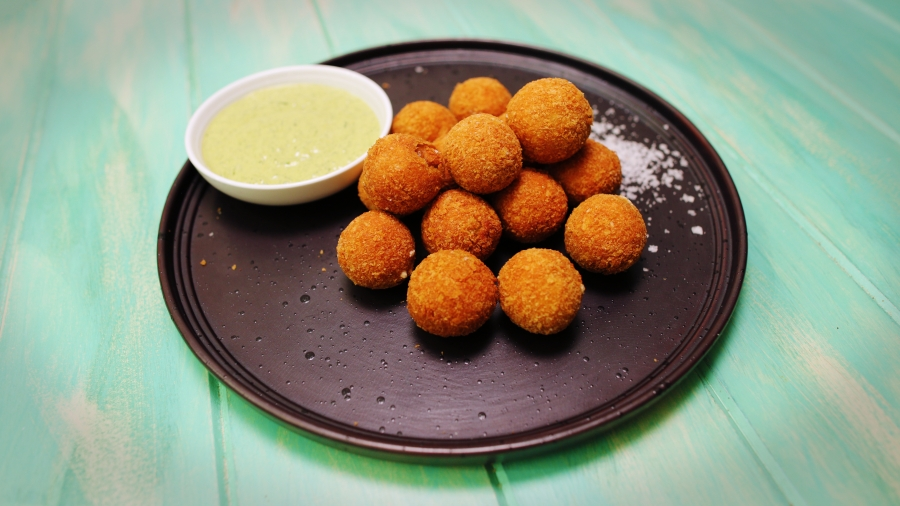 Fried Olives with Lemon-Herb Mayonaise