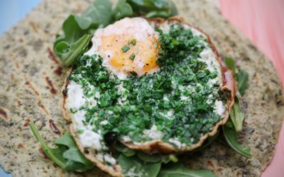 Green Eggs and Christmas Ham Breakfast Wrap