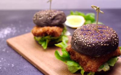 Charcoal Brioche Fish Burger