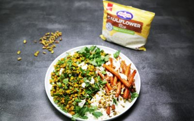 Moroccan Cauliflower Rice and Carrot Slald