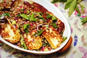 2188 Lentil and Haloumi Chopped Salad recipe - the cooks pantry