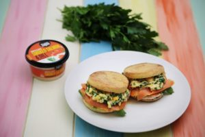 2288 Ultimate Salmon and scrambled egg sandwich recipe - the cooks pantry