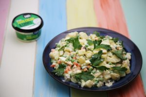 2289 Russsian Patato Salad using Sour cream and Chive dip recipe - the cooks pantry