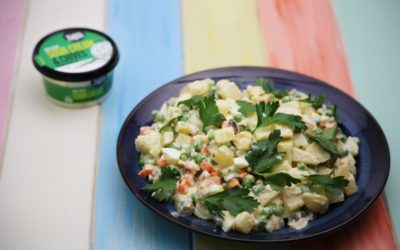 Russsian Patato Salad Using Sour Cream and Chive Dip