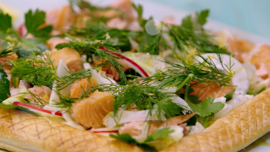 Salmon and Fennel Picnic Tart
