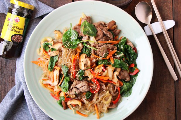 R01489_Korean_Stir_Fried_Noodles_with_Beef recipe - the cooks pantry